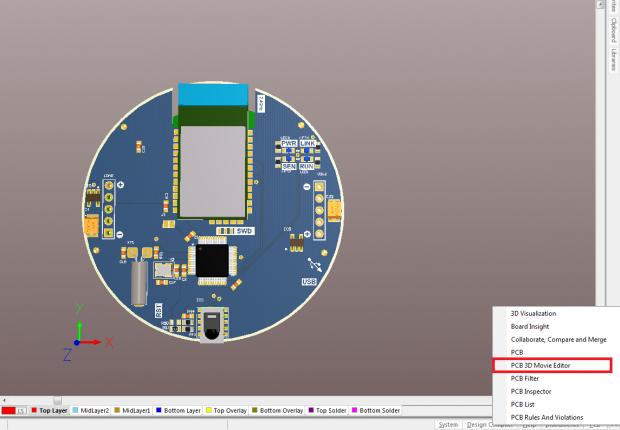 Altium PCB 3D view
