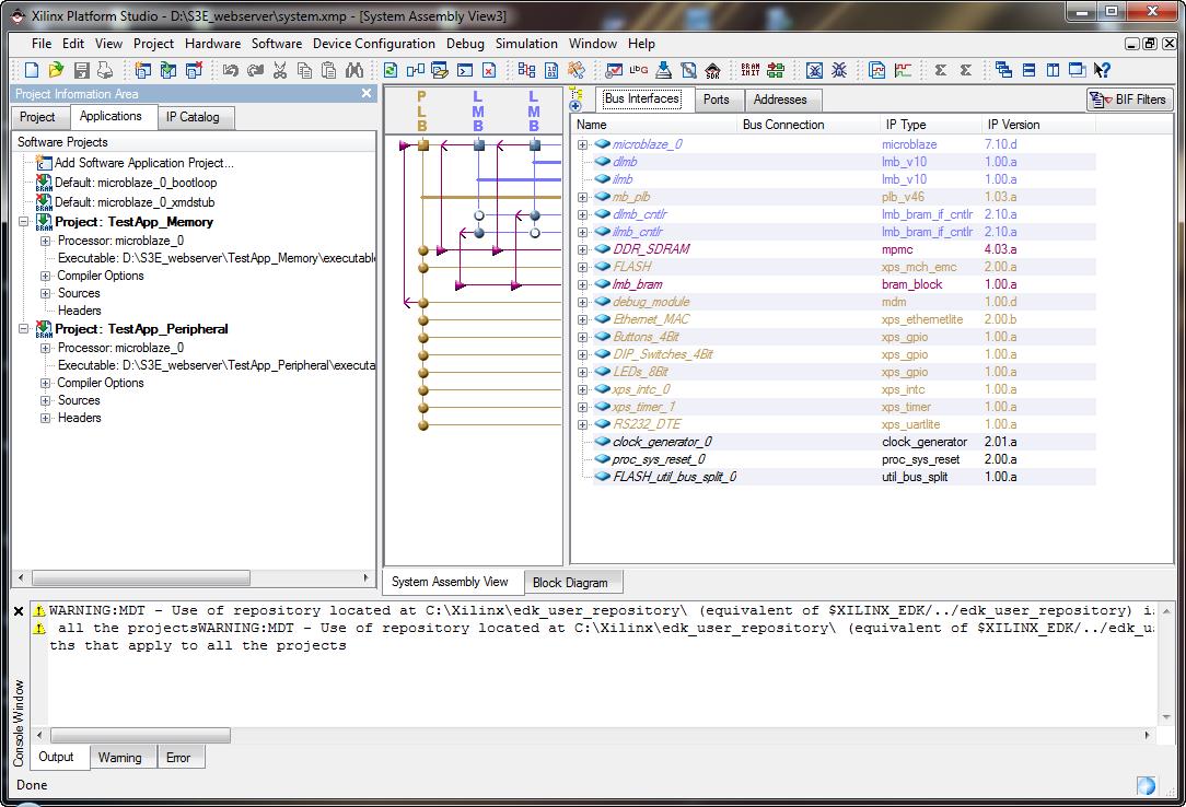 Webserver on Spartan3E500 using Microblaze | Sash's Lab