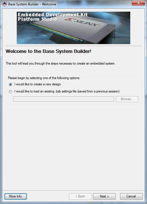 Xilinx system builder EDK