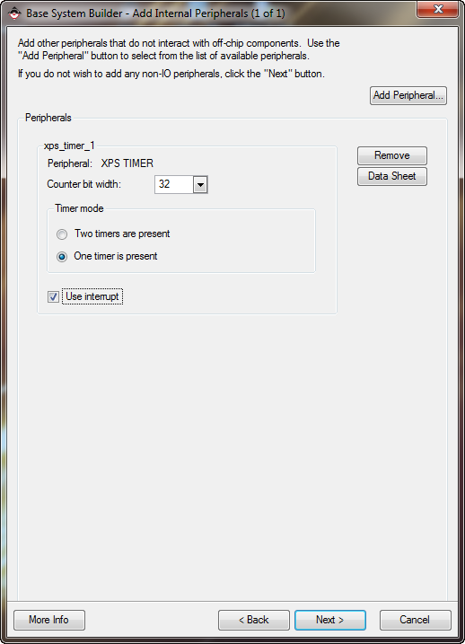 Xilinx system builder IO configuration