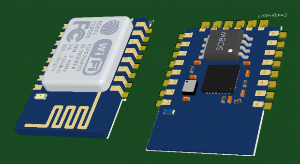wifi ESP8266 Altium